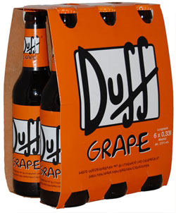 Pack de la bière Duff Grape